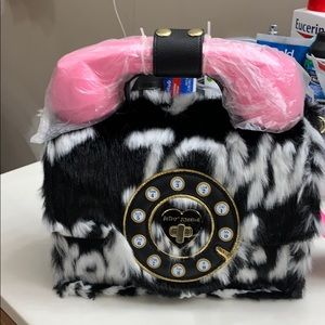 New Betsy Johnson hands free faux fur purse!